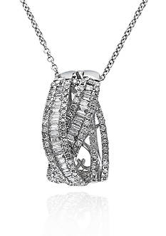Effy Diamond Pendant in 14k White Gold