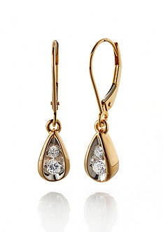 Belk & Co. Diamond Drop Earrings in 10k Yellow Gold