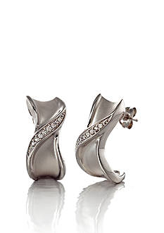 Belk & Co. Diamond Hoop Earrings in Sterling Silver