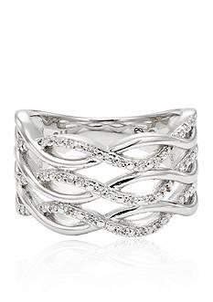 Belk & Co. Diamond Weave Band in Sterling Silver