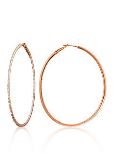 Belk & Co. Diamond Hoop Earrings in 14k Rose Gold