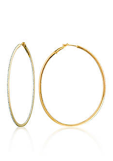 Belk & Co. Diamond Hoop Earrings in 14k Yellow Gold