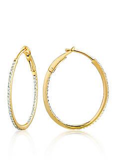 Belk & Co. Diamond Hoop Earrings in 14k Yellow Gold