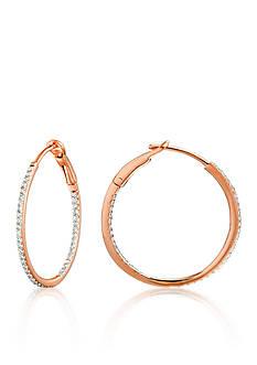 Belk & Co. Diamond Hoop Earrings in 14k Rose Gold