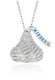 Belk & Co. Sterling Silver Large Hershey's Kiss Diamond Pendant