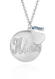 Belk & Co. Diamond Disc Kiss Pendant in Sterling Silver