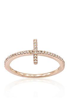 Belk & Co. Diamond Sideways Cross Ring in 14k Rose Gold