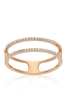 Belk & Co. Diamond Two Row Ring in 14k Rose Gold