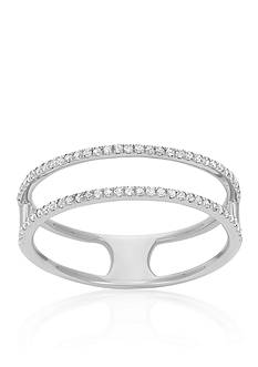 Belk & Co. Diamond Two Row Ring in 14k White Gold
