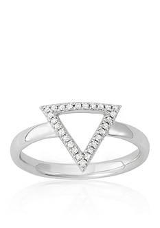 Belk & Co. Diamond Open Triangle Midi Ring in 14k White Gold