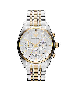 Emporio Armani® Emporio Armani Men's Classic Two Toned Chronograph Watch