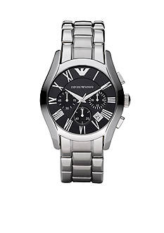 Emporio Armani Men's Classic Watch with Stainless Steel Bracelet with Black Round Face