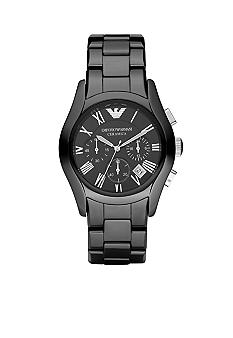 Emporio Armani Emporio Armani Black Ceramic Men's Watch with Black Chronograph Dial