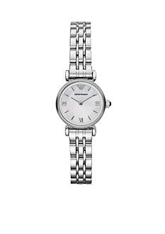 Emporio Armani Women's Silver-Tone Stainless Steel Two-Hand Watch