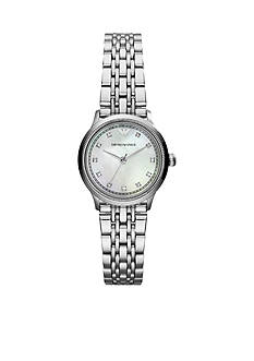 Emporio Armani Women's Stainless Steel Three Hand Glitz Watch