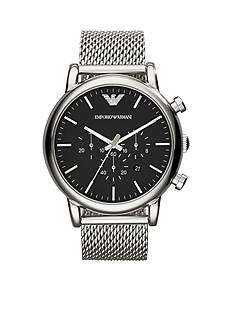 Emporio Armani Men's Stainless Steel Mesh Chronograph Watch