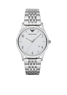 Emporio Armani Men's Classic Stainless Steel Bracelet 3 Hand with Date Watch