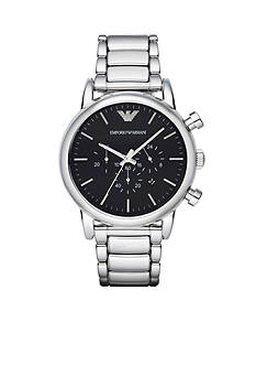 Emporio Armani Men's Luigi Silver-Tone Chronograph Watch