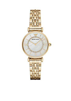 Emporio Armani Women's Gianni Gold-Tone Two-Hand Watch
