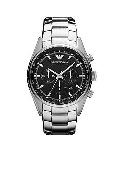Emporio Armani® Men's Sportivo Chronograph Watch With Black Silicone Strap