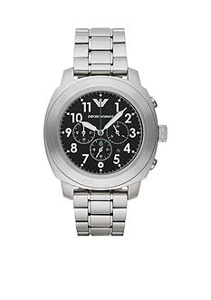 Emporio Armani Men's Sport Stainless Steel Bracelet Chronograph Watch