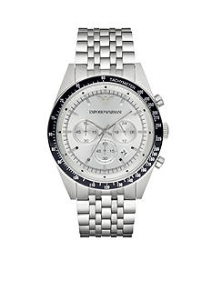 Emporio Armani Men's Tazio Silver-Tone Chronograph Watch