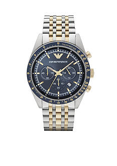 Emporio Armani Men's Two-Tone Chronograph Watch