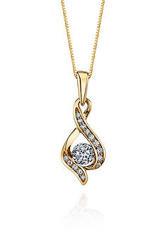 Sirena Diamond Twist Pendant in 10k Yellow Gold