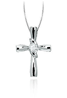Sirena Diamond Cross Pendant
