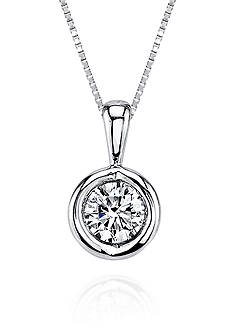 Sirena Diamond Pendant in 14k White Gold