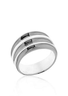 Belk & Co. Sterling Silver Ribbed Ring