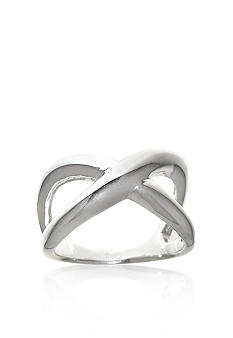 Belk & Co. Sterling Silver Ring with 'X' Design