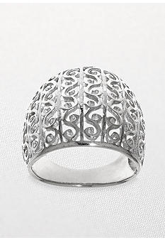 Belk & Co. Open Swirl Ring in Sterling Silver