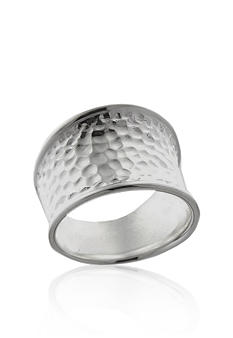 Belk & Co. Hammered Polished Ring in Sterling Silver