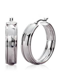 Belk & Co. Sterling Silver Diamond Cut Hoop Earring