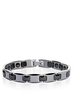 Belk & Co. Tungsten and Ceramic Bracelet