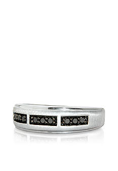Belk & Co. Sterling Silver Black Diamond Ring