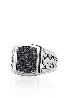 Belk & Co. Sterling Silver Black Sapphire Cluster Ring