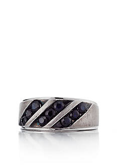 Belk & Co. Sterling Silver Men's Black Sapphire Ring