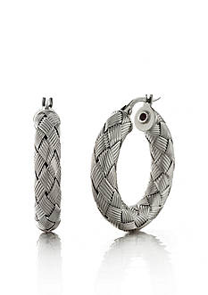 The Fifth Season by Roberto Coin Sterling Silver Small Woven Hoop Earrings