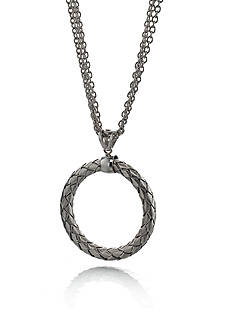 The Fifth Season by Roberto Coin Sterling Silver Large Woven Circle Necklace
