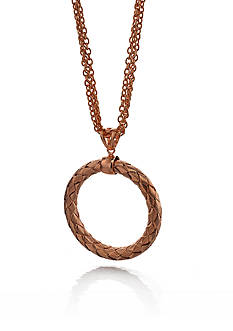 The Fifth Season by Roberto Coin 18k Rose Gold Plated Sterling Silver Large Woven Circle Necklace