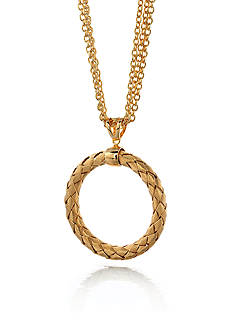 The Fifth Season by Roberto Coin 18k Yellow Gold Plated Sterling Silver Large Woven Circle Necklace