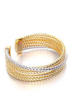 The Fifth Season by Roberto Coin Two-Tone Sterling Silver Bangle
