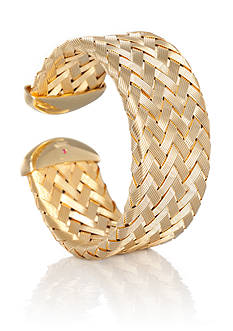 The Fifth Season by Roberto Coin 18k Yellow Gold Plated Sterling Silver Woven Cuff