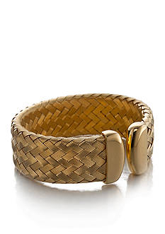 The Fifth Season by Roberto Coin 18k Yellow Gold Plated Sterling Silver Small Woven Cuff