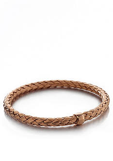 The Fifth Season by Roberto Coin 18k Rose Gold Plated Sterling Silver Thin Woven Bangle