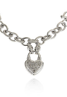 Belk & Co. Diamond Heart Toggle Clasp Bracelet in Sterling Silver