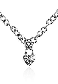 Belk & Co. Diamond Heart Toggle Clasp Necklace in Sterling Silver