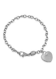 Charles Garnier Sterling Silver Heart Charm Bracelet